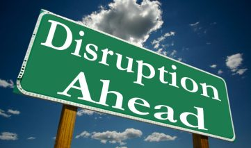 Disruption Ahead sign